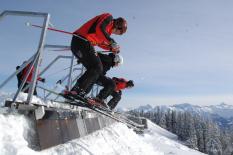 Ski Cross - am Start