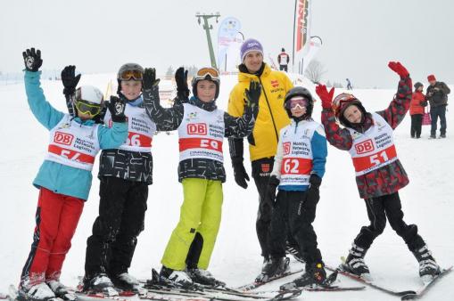 Martin Schmitt mit Kindern