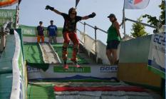 Mobile Skisprungschanze