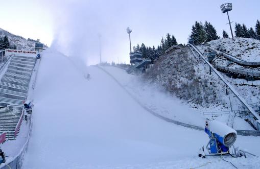 Schneeproduktion Oberstdorf