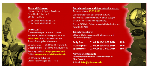 Flyer Kraftsymposium