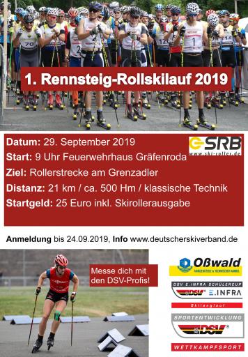 Rennsteig-Rollskilauf 2019, Plakat