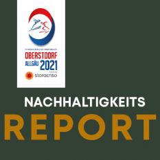 Logo, Nachhaltigkeitsreport WM Oberstdorf 2021