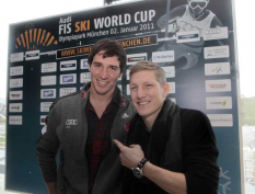 Felix Neureuther und Sebastian Schweinsteiger