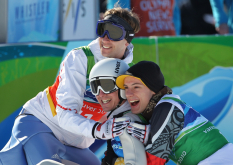 Skisprung-Team bei Olympia
