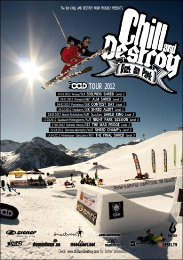 Eventposter Chill and Destroy Tour 2012