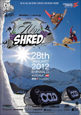 Eventposter Ehrwalder Alm Shred 2012