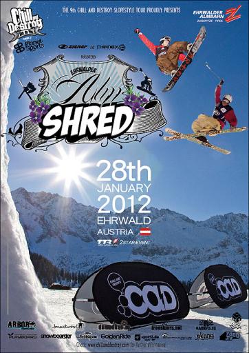 Eventposter Ehrwalder Alm Shred 2012