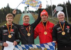 DM 2012 in Klingenthal: Bayern gewinnt Team-Wettbewerb